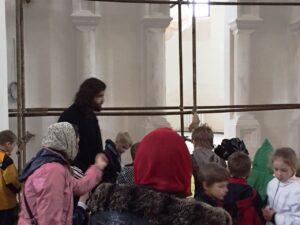 Отец Алексей показал нам строящийся верхний храм.