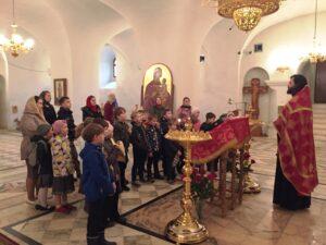 Самым главным для нас стал благодарственный молебен, который отслужил нам отец Алексей.