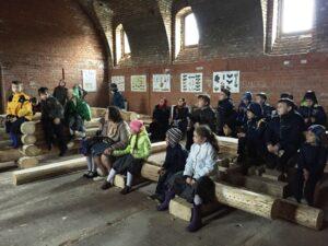 А еще мы побывали в Школе плотницкого мастерства на территории храма. Там учатся строить деревянные храмы, как на Севере.